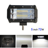 Mini luz al por mayor del punto del carro LED del jeep de la barra ligera 12V de 5inch 72W ATV LED