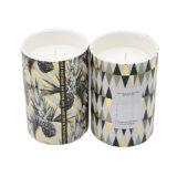 Grande Vela cerâmica perfumada com papel adesivo para decoração