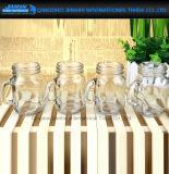 120ml mini alimento de cristal, bebida, botella del masón de la ensalada con la maneta