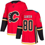 Barato 2018 Nova Marca Ad Mens Senhora Kids Calgary chamas 80 Gawdin Glenn 93 Sam Bennett 59 Dillon Dube Joseph Cramarossa Vermelho camisolas de hóquei personalizada