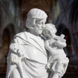 Scultura religiosa della statua di marmo della bibbia della decorazione T-6984 della chiesa