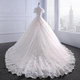 с шнурка плеча отбортовывая Bridal платья венчания мантии