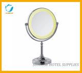 Bureau de l'hôtel Miroir de maquillage à LED avec double face