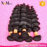 最高と評価されたファクトリー・アウトレットの価格の卸売8A人間のRemyの織り方の毛のバージンのブラジルの波状