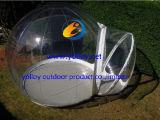 Casa de campo cristalina inflable de la burbuja para la venta