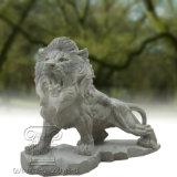 Escultura de la estatua de mármol del león, escultura animal