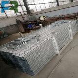 Prancha galvanizada do aço da plataforma do metal do andaime