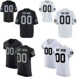Oakland элитная игра белого цвета черный цвет группы настраиваемых футбола футболках NIKEID