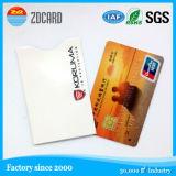 소매 홀더를 막는 서류상 신용 카드 RFID