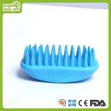 Голубой резиновые Пэт собаку щеткой (HN-PG306)