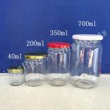 Commerce de gros de la Verrerie de toute taille en pots de verre avec couvercles