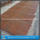 Granit rouge multicolore naturel poli pour dalles / carreaux / comptoirs