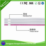 UL 공장은 편평한 리본 실리콘 철사 고열 Ec3 Ec5 접합기 PVC XLPE TPE 실리콘에 의하여 격리된 HDMI 데이터 전기 전력 케이블을 주문을 받아서 만든다