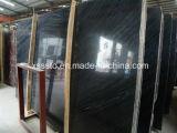 Bois noir antique en marbre, veine de bois en marbre noir