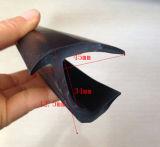 Sello material del borde de la dimensión de una variable del PVC J, junta del envase