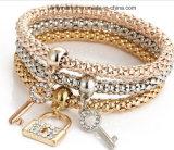 Estilo de milho pipoca Aloy Diamante formas diversas Bracelete Charm Bangle Moda