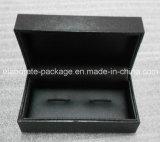 Rectángulo de regalo de empaquetado barato negro de la mancuerna
