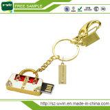 Movimentação feita sob encomenda do flash do USB da jóia da forma nova da amostra livre