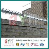 Высокими загородка спайка стены стены подъема Secuirty анти- гальванизированная спайками