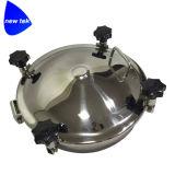 A Não-Pressão redonda sanitária do aço inoxidável flangeou tampa de câmara de visita do tanque