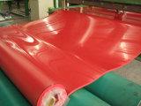 Feuille en caoutchouc rouge normale pour la bride avec l'allongement élevé