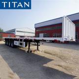 40FT 45 FT 40 Tonnen-Behälter-Fahrzeug-Flachbettschlußteil mit Headboard-Transport-Sattelschlepper für Verkauf
