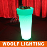 Wf-4895 Plástico LED Flower Pot / Muebles de plástico al aire libre / Round High Flower Pot
