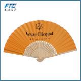 Bambu do OEM que dobra-se acima do ventilador feito sob encomenda da mão do papel do logotipo do ventilador