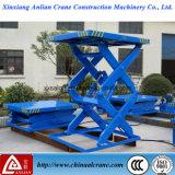 Tipo fijo plataforma hidráulica de la elevación del funcionamiento