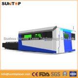 a máquina de estaca do laser do metal de folha 1000W, Dual tabela de funcionamento da troca, modelo incluido cheio