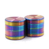 4Las capas de 40 mm de aleación de zinc colorido Molinillo hierbas para el tubo de cigarrillos