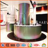 Panneau composé en aluminium de spectres matériels de décoration intérieure de premier constructeur