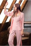Новый дизайн Nightwear 2017женских Sexy 3PCS шелковые пижамы Си10303663