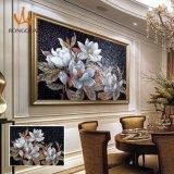 Мозаика стекла картины цветка Рук-Отрезала конструкцию (MD1016)