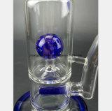 Glaswasser-Rohr-Rauch-blaues Filter-Kugel-Wasser-Rohr