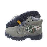 A mediados de gamuza de corte de placa de acero de cuero Zapatos de seguridad para las mujeres