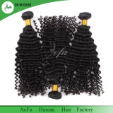 La profonde des Cheveux humains indiens d'onde vierge pour femme noire des fils de trame