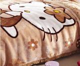 漫画パターン子供のための柔らかく暖かいRaschelのアクリルのミンク毛布