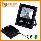 20W al aire libre de iluminación de la lámpara a prueba de agua IP67> 100lm / W luz de inundación de la lámpara del proyector
