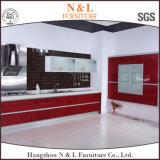 Meubles en bois de cuisine de meubles à la maison à haute brillance avec la marque Handware de Blum