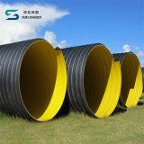 ISO-Bescheinigungs-Stahlband verstärkter HDPE Spirale-gewölbter Rohr-Hersteller