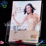 Livre d'acrylique Stand, chevalet de promotion du livre en acrylique avec la lèvre, livre Portable Présentoirs acryliques