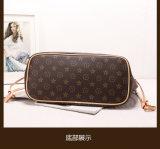 Famosa marca popular PU bolsas de couro cor de contraste moderno saco a tiracolo para Senhoras