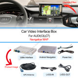 Navigation Video Interface on Android 4.2/4.4 for 2010-2015Audi A6l/S6/A8l/Q7/A4l/A5/Q5/Q3/A1 with Rearview Reversing System
