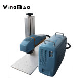 金属の携帯電話の角ビンの彫版のための熱い販売法10W 20W 30W 50Wの小型デスクトップのファイバーレーザーのマーキング機械