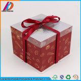Коробка шикарного торта подарка картона упаковывая с ручкой