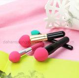 Cepillo cosmético libre del soplo de polvo del maquillaje de la esponja del mezclador del látex lavable con el palillo