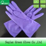 Дешевая перчатка домочадца PVC промышленная