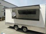 와플 피자 Takoya Kirotisserie 닭 계란 케이크 차량 트레일러