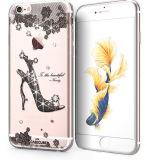 Het Geval van de manier voor iPhone van de Appel 6s plus het Zachte Geval van de Telefoon TPU High-Heeled Diamant van Schoenen